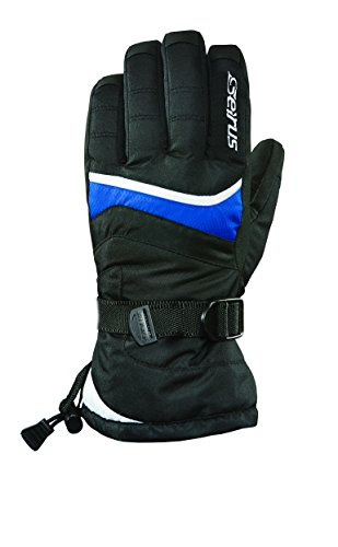 Core Junior Skis - Seirus Innovation Heatwave Junior Folly Youth Ski Gloves, Black/Blue, Medium