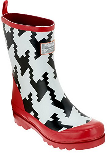 LittleMissMatched Girl's Crazy Coordinate Wellies Rain Boots (2, Houndstooth)