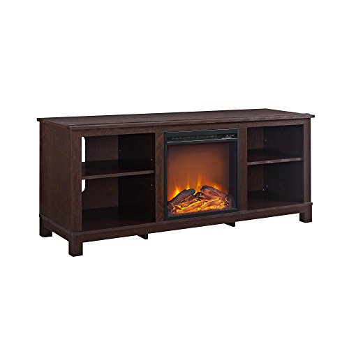 Ameriwood Home Edgewood TV Console with Fireplace for TVs up
