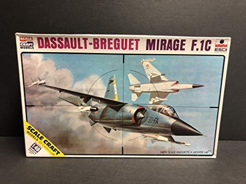 - Dassault Breguet Mirage F-1C Fighter Jet ESCI Italy 1/48 scale Model Kit