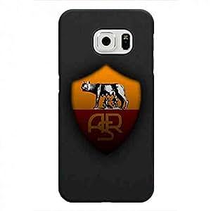 Roma A.S.Roma Logo Associazione Sportiva Roma Logo funda Black Hard Cover For Samsung Galaxy S6Edge Case Ra01