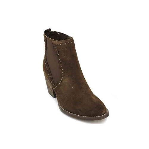 Carmela 66399 Botines de Mujer - 37, Serraje Cuero: Amazon.es: Zapatos y complementos