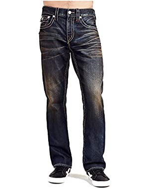 Men's Straight Leg Relaxed Fit Flap Earthworm Jeans