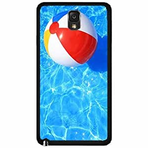 Beach Ball in Pool - Case Back Cover (Galaxy Note 3 - Plastic)