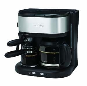 K Cup And Drip Coffee Maker Combo : Amazon.com: Mr. Coffee BVMC-ECM22 Combination Steam Espresso and 10-Cup Coffeemaker, Black ...