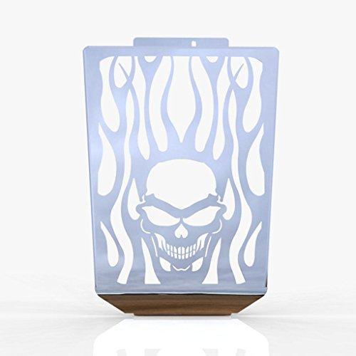 - Skull Flame Polished Stainless Radiator Grill fits: 2006-2014 Suzuki Boulevard M109R - Ferreus Industries - GRL-127-09