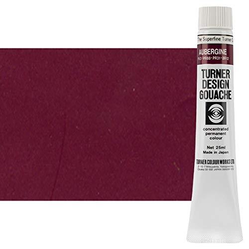 Aubergine Finish - Turner Colour Works Design Gouache Premier Opaque Watercolor Paint - 25 ml Tube - Aubergine