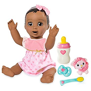 Luvabella Dark Brown Hair Responsive Baby Doll with Realistic Expressions and Movement