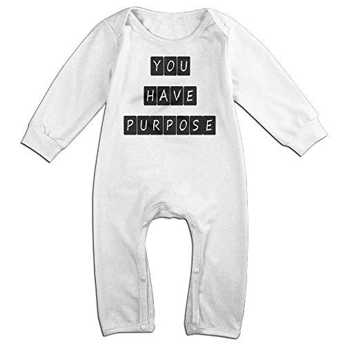 Aztec Dancers Costumes (Baby Infant Romper You Have Purpose Long Sleeve Jumpsuit Costume White 18 Months)