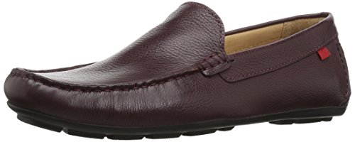 MARC JOSEPH NEW YORK Mens Leather Made in Brazil Broadway Loafer, Wine Grainy, 9.5 D(M) US (Shoes Mens Brazil)