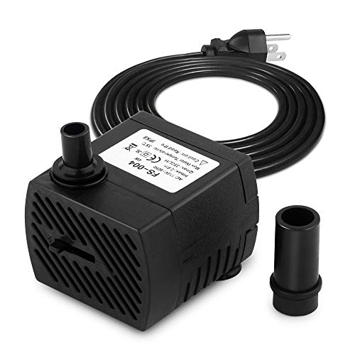 (FREESEA 95GPH 4W Ultra Quiet Mini Submersible Pump for Aquariums, Fish Tank, Pond, Fountain Water Pump)