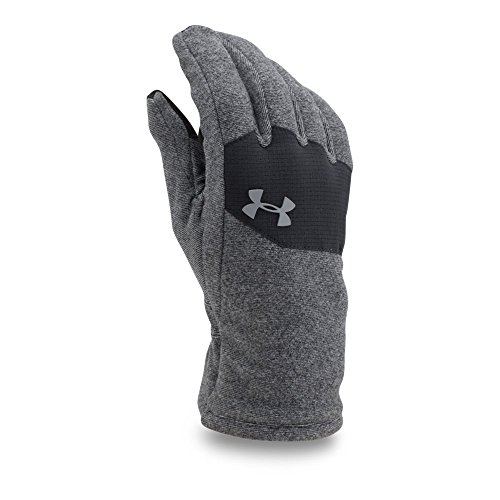 Under Armour Men's ColdGear Infrared Fleece Gloves, Black/Black, Medium