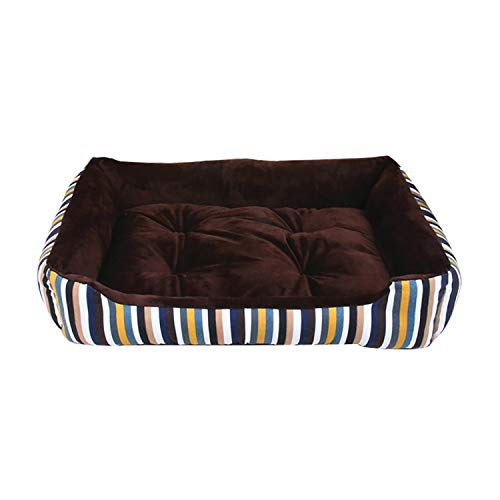 Dog Bed Mat Kennel Soft Dog Puppy Warm Bed Plush Cozy Nest for Small Medium Large Dog House Pad Warm Winter Pet Supplies,E,45X28.5X12Cm]()