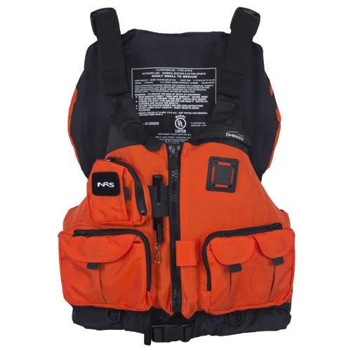 NRS Chinook Mesh Back Fishing PFD – Orange S/M, Outdoor Stuffs