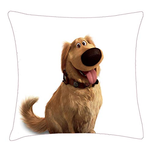 HFYZT Dug The Dog from Disney Pixar UP - Smiling Throw Pillow Cover 18x18 Inch Two Sides Design Printed Pillowcase