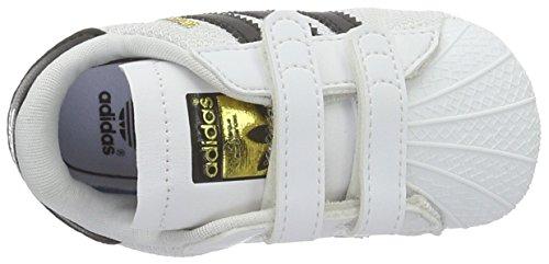 Superstar Baby Unisex wit Adidas Crib zwart Multicolor Shoes gUPqqxdSw