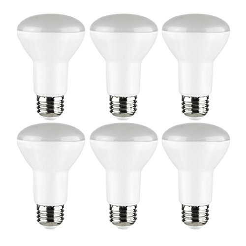 Sunlite R20/LED/8W/DIM/ES/27K/6PK 2700K Warm White LED R20 8W, 40W Replacement Frosted Reflector Light Bulbs with Medium E26 Base (6 Pack)