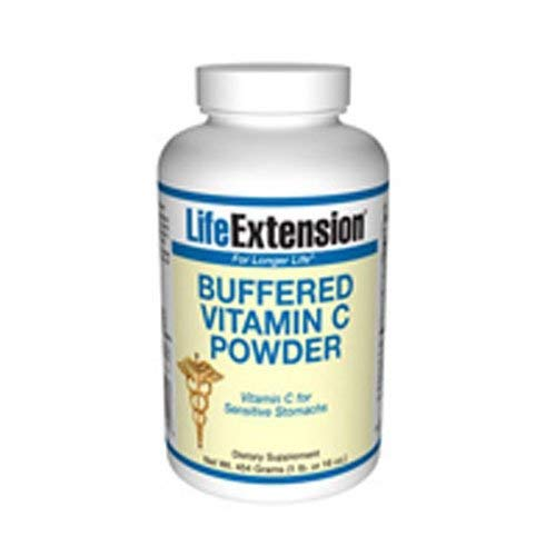 Life Extension Buffered Vitamin C Powder, Net Wt. 454 Gram (1 Pound or 16 Ounce) (Pack of 3)