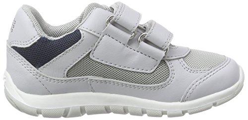 Geox B SHAAX B - zapatillas de running de material sintético bebé Gris - Grau (LT GREY/NAVYC1297)