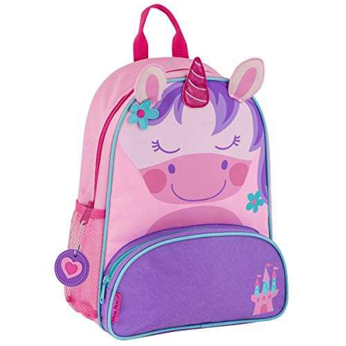 Stephen Joseph Girls' Little Sidekicks Backpack, Unicorn, Pink