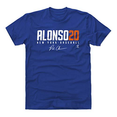 500 LEVEL Pete Alonso Cotton Shirt (X-Large, Royal Blue) - New York Baseball Men's Apparel - Pete Alonso Elite O WHT - New York Mets Baseball Jersey