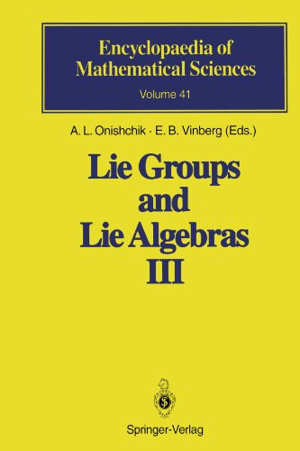 Lie Groups and Lie Algebras III: Structure of Lie Groups and Lie Algebras (Encyclopaedia of Mathematical Sciences)