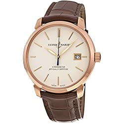 New Mens Ulysse Nardin San Marco 18k Solid Rose Gold Automatic Chronometer Watch 8156-111-2-91