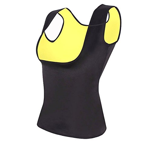 Straight FIT's Hot Sweat Slimming Neoprene Shirt Vest Body Shapers for Weight Loss No Zipper Black (XX-Large)
