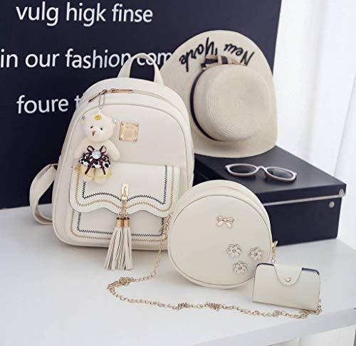 à Sac Dos COMVIP Sacs 3Pcs Femme Petit Ensemble Blanc Porte Bandoulière cartes qRqOF4wX