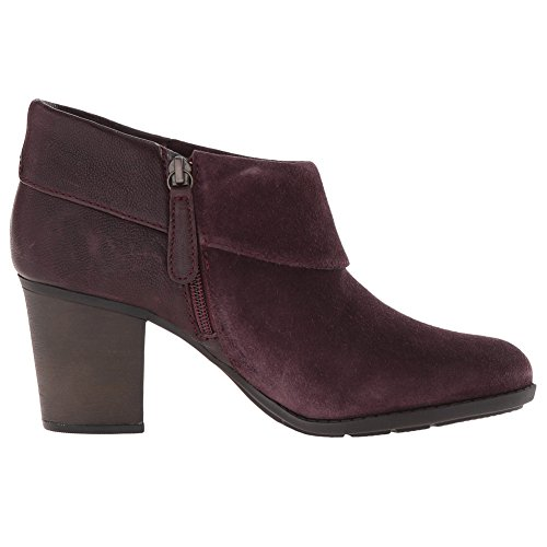 CLARKS Women's Enfield Canal Boot, Aubergine Suede, 9 M US