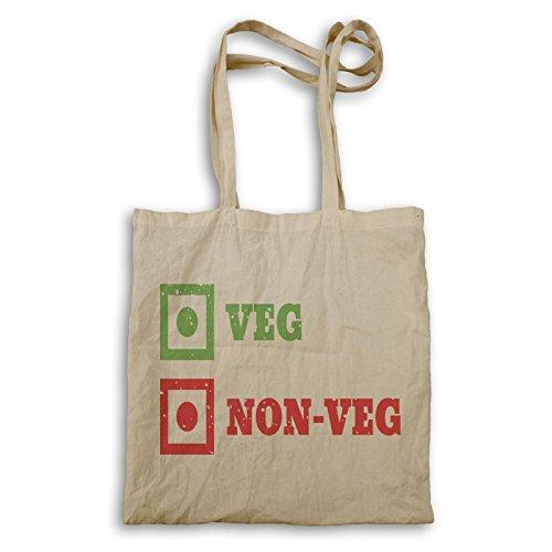 Vegan Veggy Veg Neuheit Lustig Tragetasche a741r