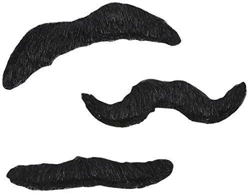 Rhode Island Novelty Mustache, 3 Piece Set, 3.5-Inch (Novelty Mustache)