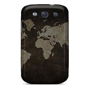 High Quality MDXNYrc4119lrtNq Grunge World Map 4g Tpu Case For Galaxy S3