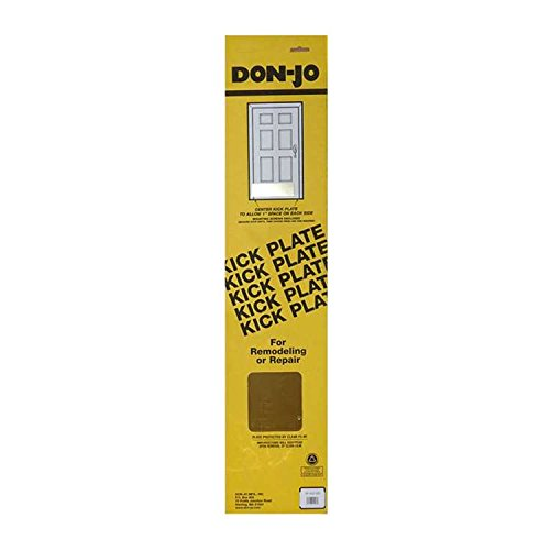 Don-Jo 90 Metal Kick Plate, Satin Stainless Steel Finish, 34