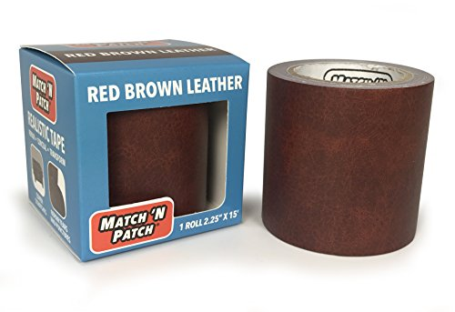 Match 'N Patch Realistic Red Brown Leather Repair Tape (Brown Red Leather)