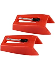 Milisten 1 Pair Record Player Needles Turntable Cartridge Replacement Needles for Vinyl Record Player LP Phonograph Gramophone Record Player