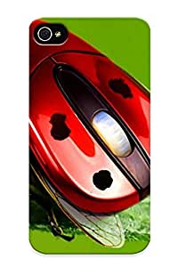 New Crazinesswith Super Strong Ladybug Mouse Tpu Case Cover Series For Iphone 4/4s
