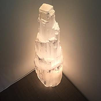 BEAUTIFUL Selenite Lamp   Fossil And Mineral