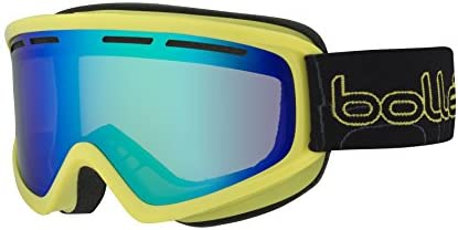 Bolle Schuss Adults Snow Snowmobile Goggles Shiny Lime Green Emerald