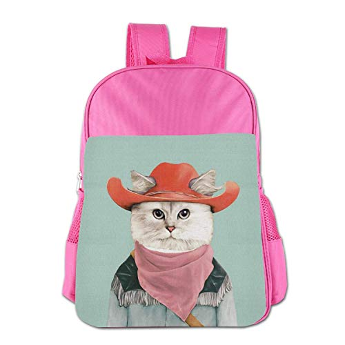 Children's School Bag Rodeo Cat Kids Backpack Boys Girls Fit School Backpack Bag Boys&Girls Bookbag Travel Daypack