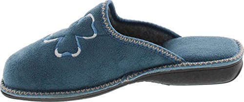 Home Plush Embroidered Collection Europe Blue Womens SC Made in 14117 Slippers House ApZTqndn