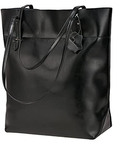 bc650e3173b S-Zone Vintage Genuine Leather Tote Shoulder Bag Handbag Big Large Capacity