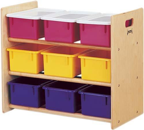 Jonti-Craft 0710JC Cubbie-Tray Storage Rack with Colored Cubbie-Trays