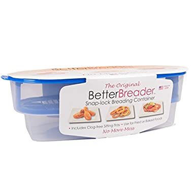 Cook's Choice Original Better Breader Batter Bowl- All-in-One Mess Free Breading at Home or On-the-Go
