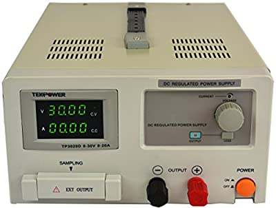TekPower DC Adjustable Linear Power Supply, Transformer Type Clean Power Source