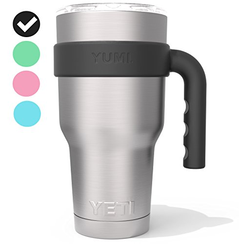 YETI Handle for 30oz Stainless Steel Travel Tumbler - Fits YETI Rambler, RTIC, Ozark Trail, Simple Modern, SIC, SMART, Magnum Steel, Grid Gear, Polar Drifter, Titan etc. (Tumbler not included) (Black)