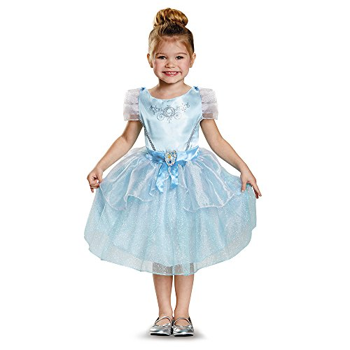 Girls Classic Cinderella Movie Costumes (Cinderella Toddler Classic Costume, Medium (3T-4T))