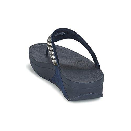 Fitflop Slinky Rokkit Toe-post - Sandalias con tacón Mujer azul marino