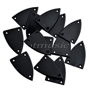 3 Hole Triangle Truss Rod Cover for Electric Guitar Bass Guitar Parts Black 1 Pc