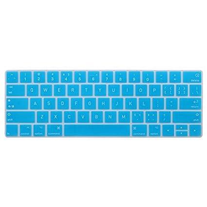 DealMux computador portátil Teclado de silicone capa protetora da pele azul para Macbook Pro 13